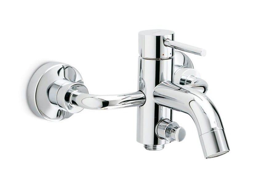 Wall-mounted single handle bathtub mixer with diverter XT   Wall-mounted bathtub mixer by newform