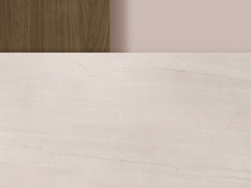 Porcelain stoneware washbasin countertop / kitchen worktop XTONE AGED CLAY by URBATEK