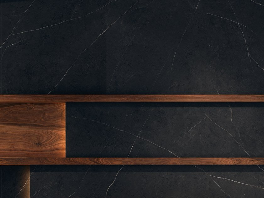 Wall/floor tiles with marble effect XTONE LIEM BLACK by URBATEK