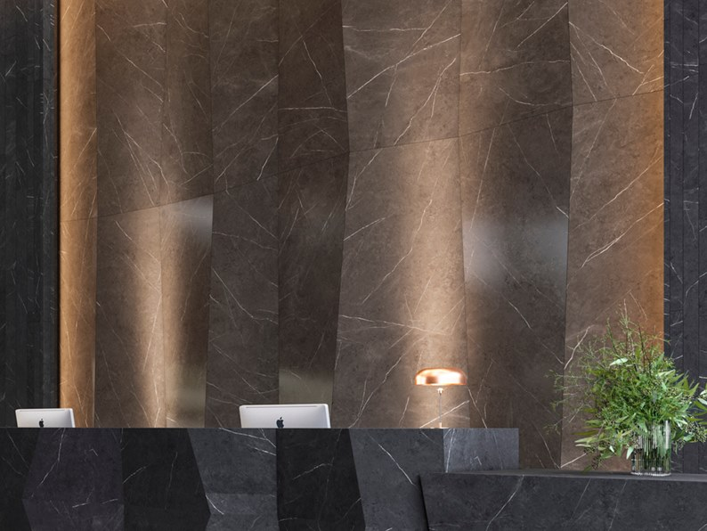 Wall/floor tiles with marble effect XTONE LIEM DARK by URBATEK