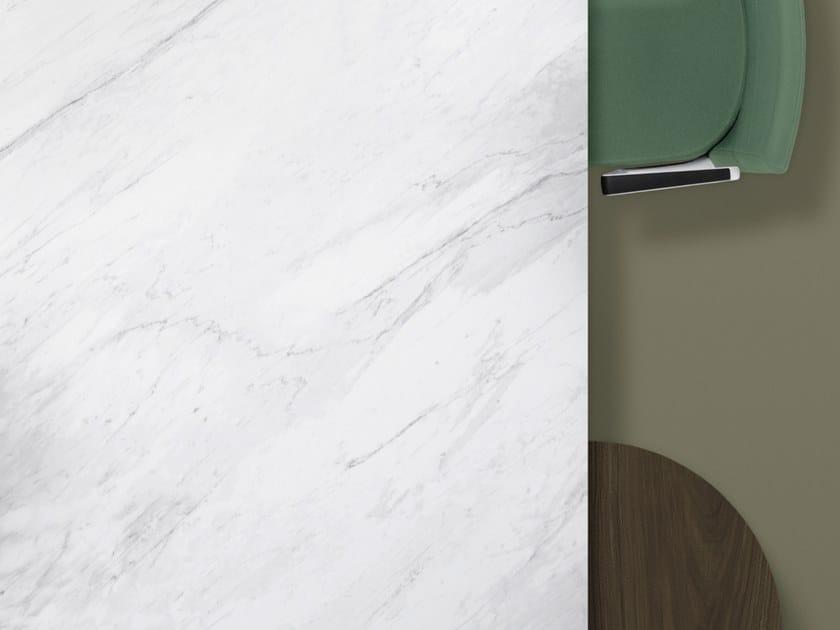 Porcelain stoneware washbasin countertop / kitchen worktop XTONE LUSH WHITE by URBATEK