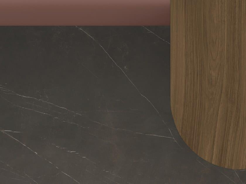 Porcelain stoneware washbasin countertop / kitchen worktop XTONE SAVAGE DARK by URBATEK