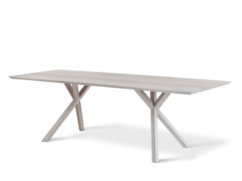 Solid wood table XY by Montis