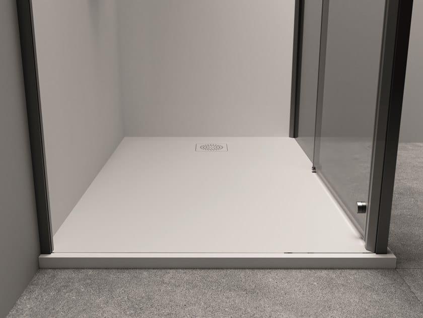 Plato de ducha rectangular de Techstone XYZ+™ | Plato de ducha by Jacuzzi®