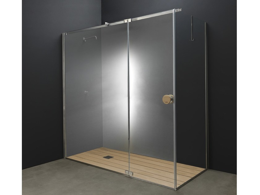 Marvelous Corner Glass And Stainless Steel Shower Cabin With Hinged Door Y1 | Shower  Cabin By AISI