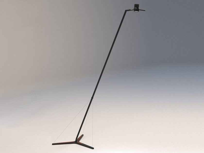 LED direct light adjustable floor lamp Y3 by Martinelli Luce