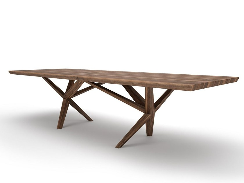 Rectangular wooden table YAGO by Belfakto