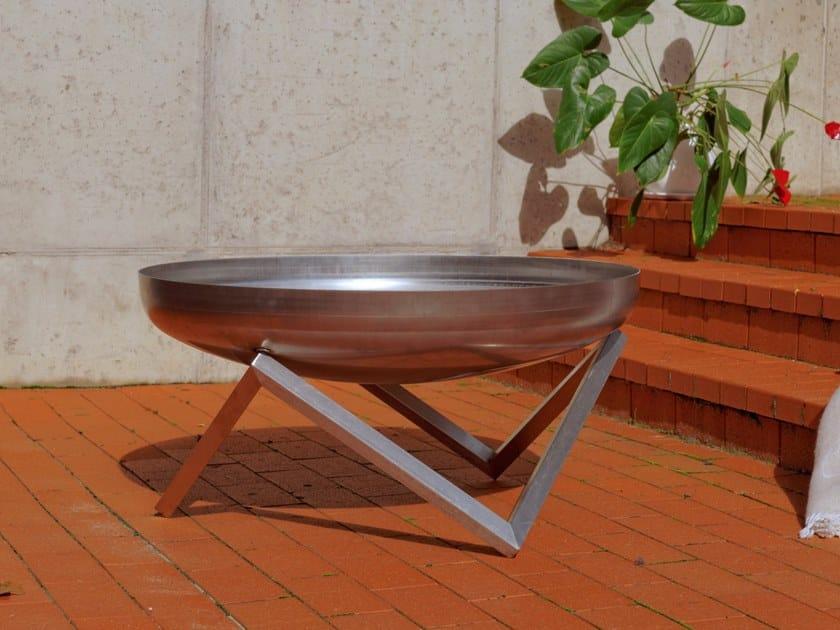 Stainless steel fire baskets YANARTAS | Metal fire baskets by Arpe studio