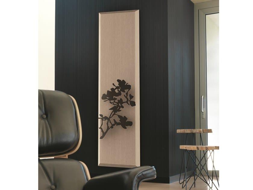 Vertical wall-mounted panel radiator YANG NATURE ROSA by K8 Radiatori