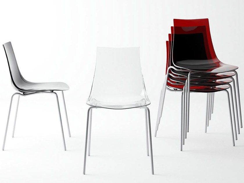 Polycarbonate chair YANKY by CANCIO