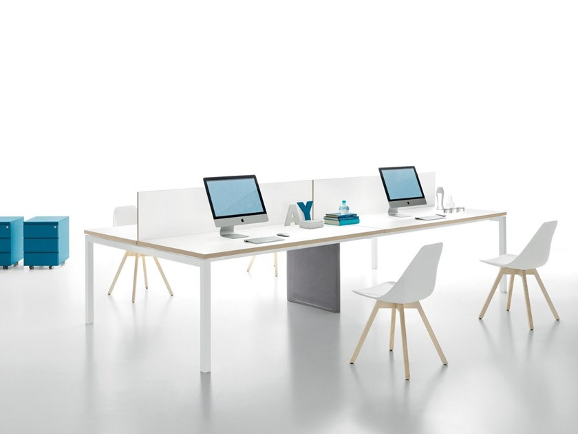 Multiple office workstation YARD | Office workstation by Martex