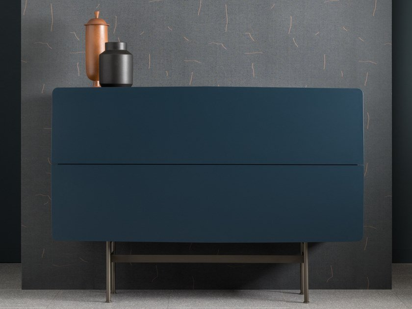 Ash sideboard with flap doors YEE - COMPOSITION C by SP01