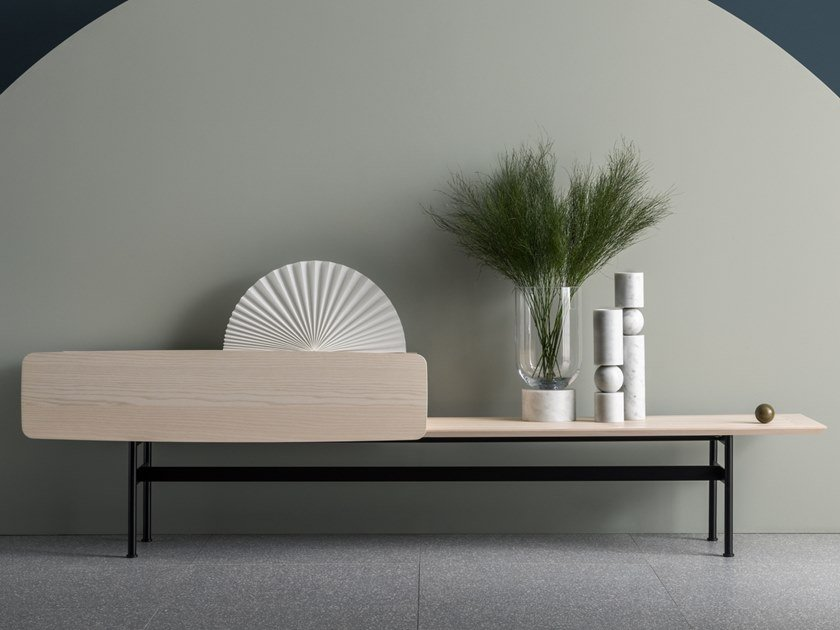 Ash sideboard with flap doors YEE - COMPOSITION E by SP01