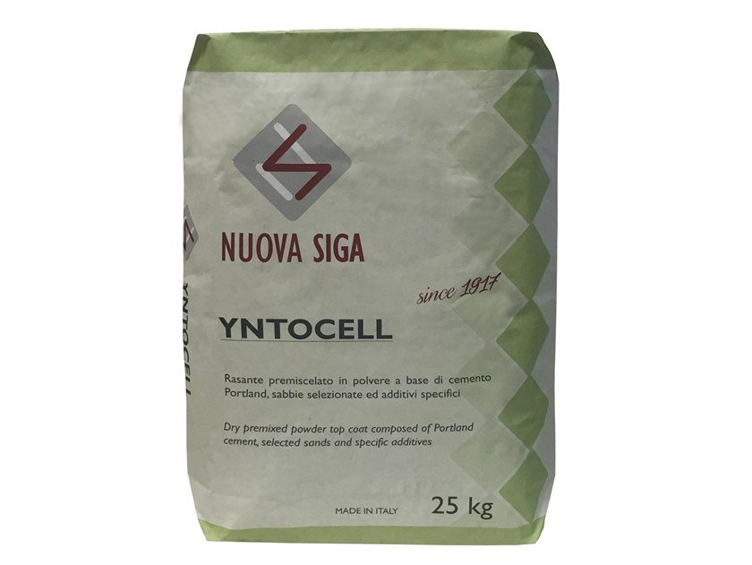 Thermal insulating mortar and plaster YNTOCELL by NUOVA SIGA