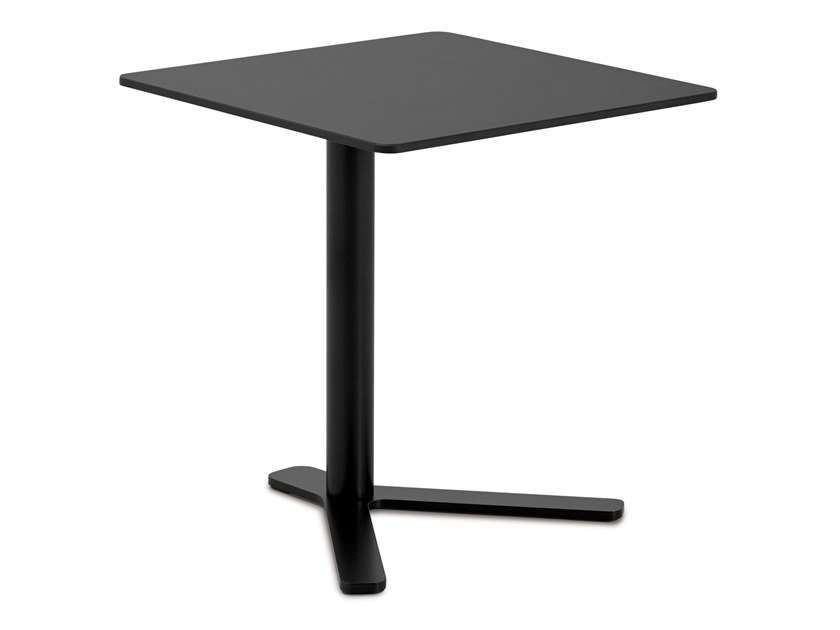 Height-adjustable square HPL coffee table YO | Square coffee table by Lapalma