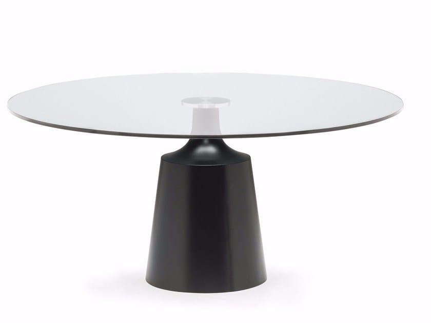 Round crystal table YODA by Cattelan Italia