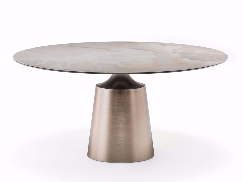 Round ceramic table YODA KERAMIK by Cattelan Italia