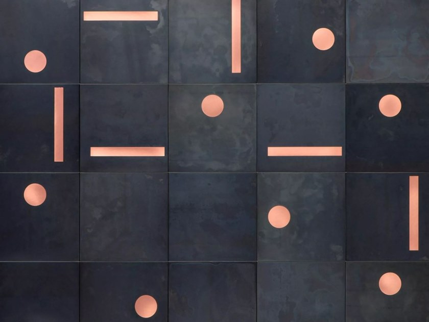 Metal sheet module system for walls YOKO by DE CASTELLI