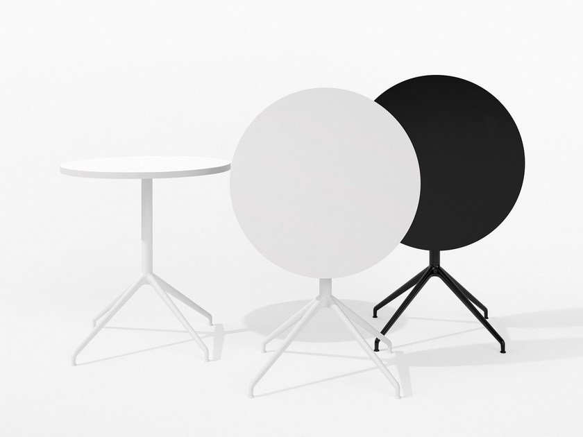 Folding round table YOP by arper