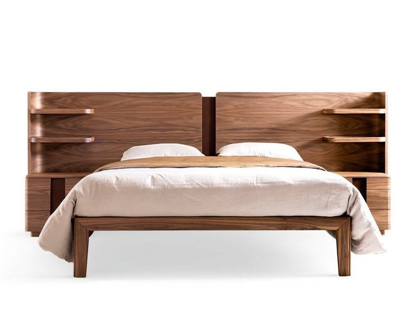 Double bed with integrated nightstands YORK - 710112   Double bed by Grilli