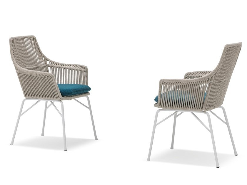"Outdoor chair YORK ""CORD"" OUTDOOR by Minotti"