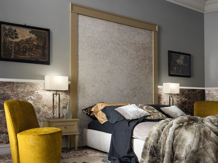 High headboard for double bed YORK 54 by Cerasa