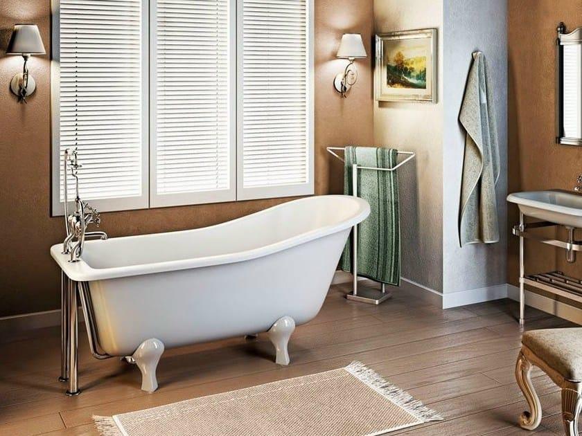 Freestanding bathtub on legs YORK SLIPPER 1700 by Polo