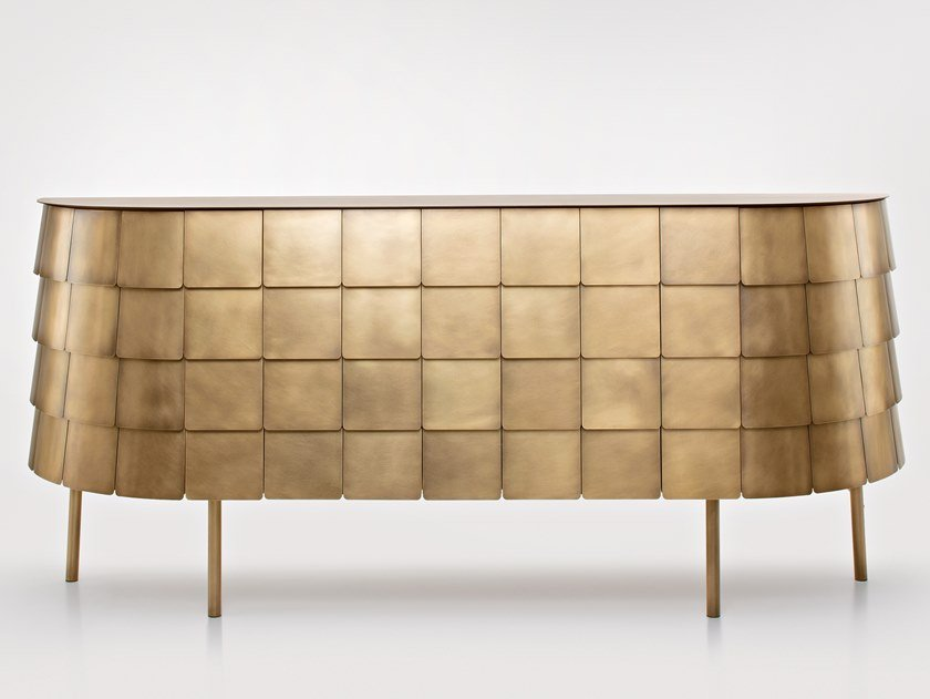 Metal sideboard with doors and drawers YOROI by DE CASTELLI