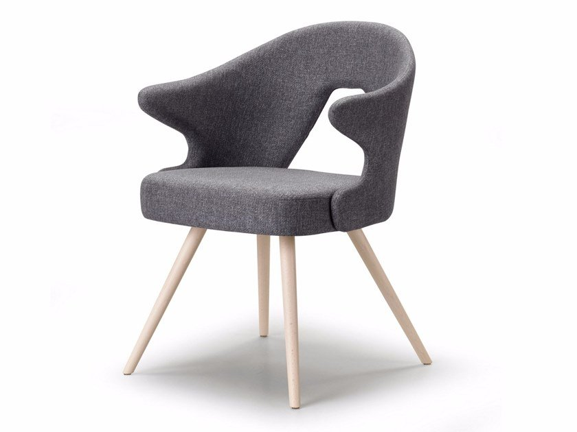 Fabric chair with armrests YOU | Chair by SCAB DESIGN