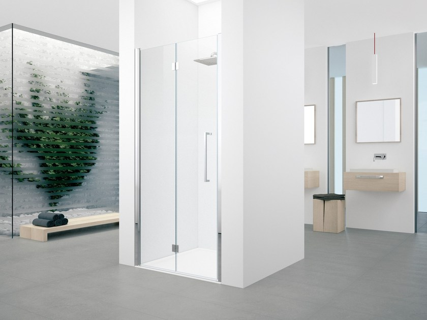 Shower cabin with folding door YOUNG 2.0 1BS by NOVELLINI