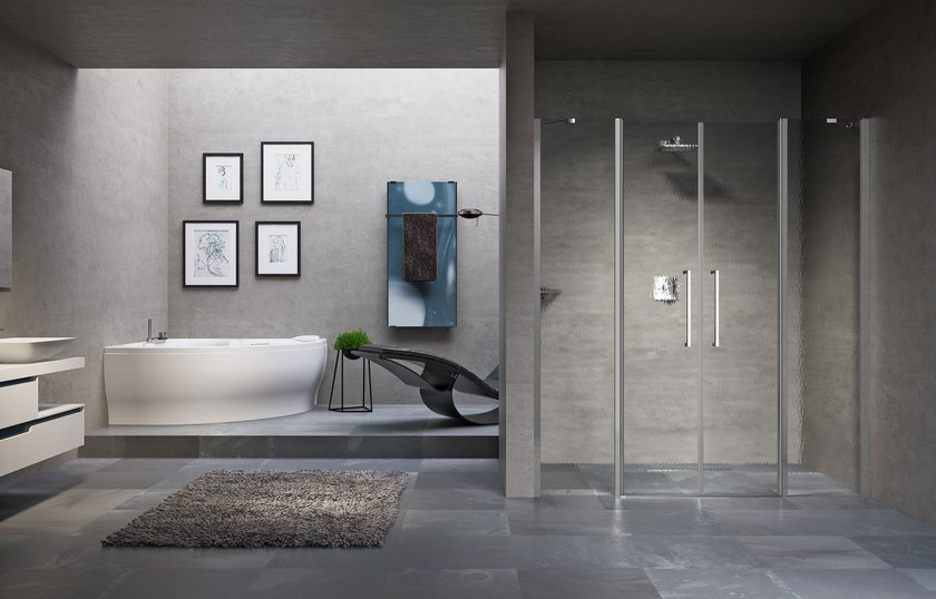 Shower cabin with hinged door YOUNG 2.0 2A by NOVELLINI
