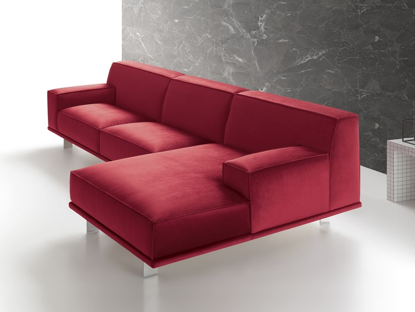 4 seater fabric sofa with chaise longue YOUNG   Sofa with chaise longue by Felis