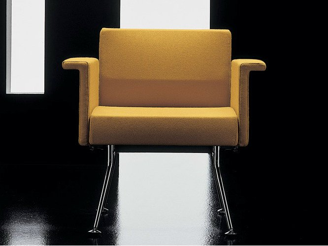 Fabric easy chair with armrests YPSILON | Easy chair by Diemme