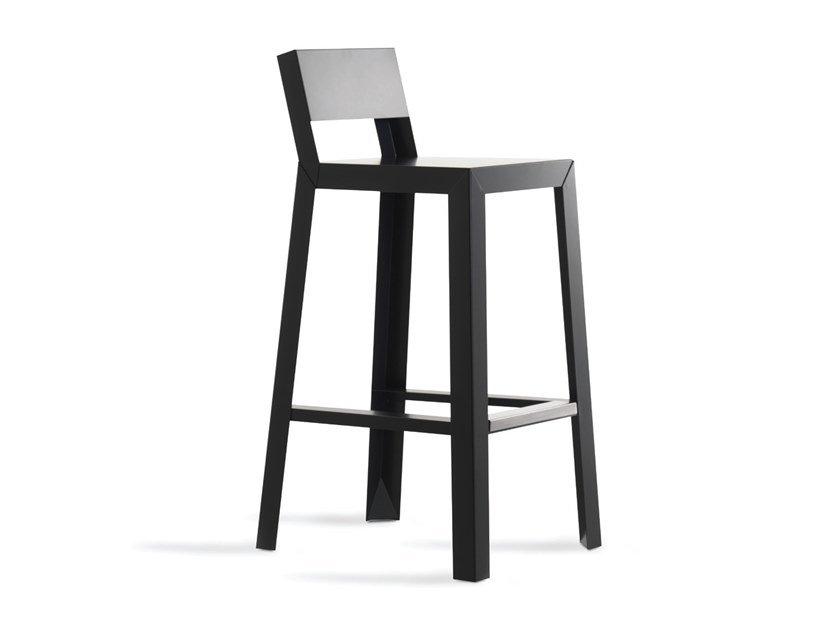Plate garden stool with back with footrest YU.YU | Stool by Casprini
