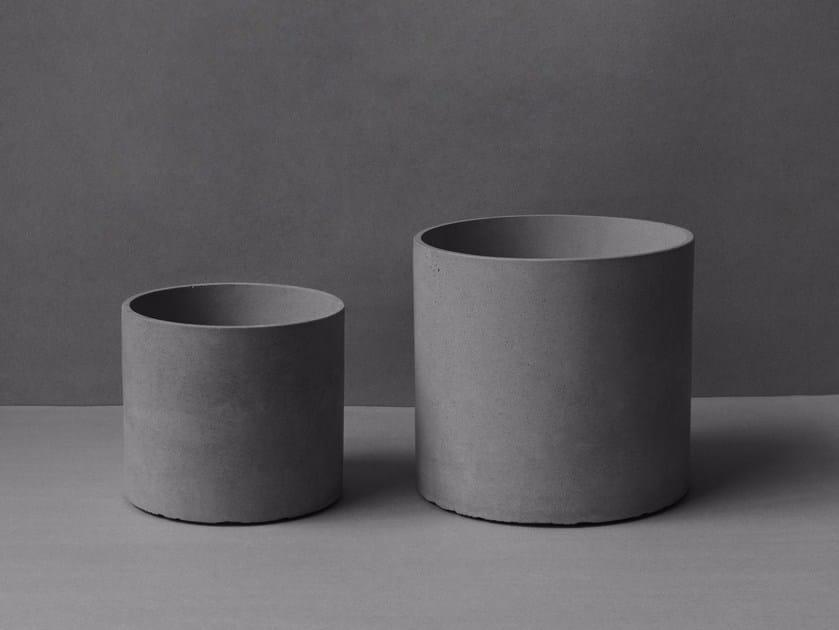 Concrete plant pot YUAN by Bentu Design