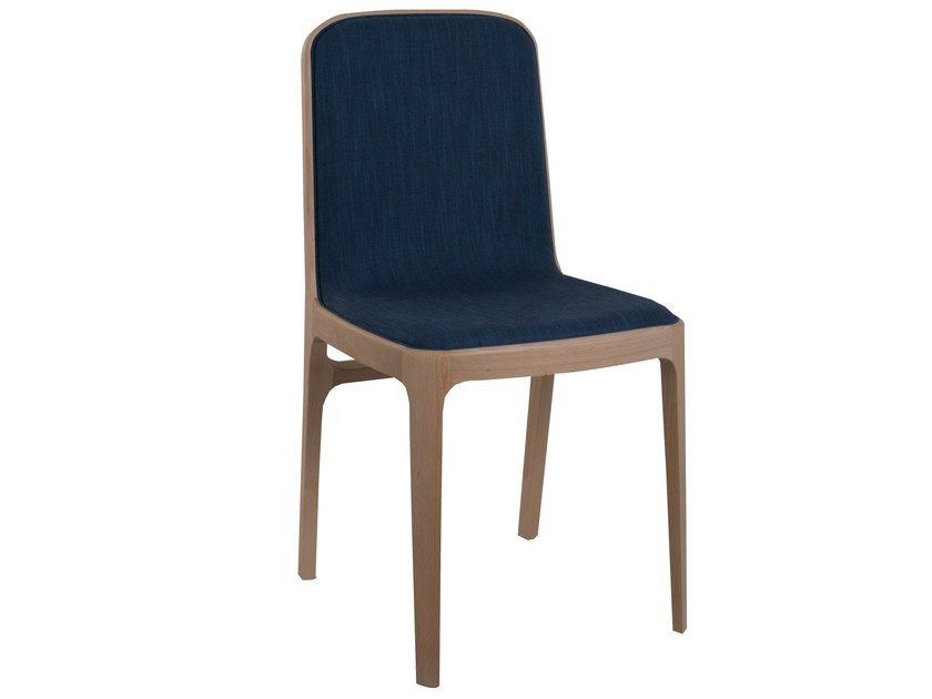 Upholstered fabric chair YUME   Chair by Perrouin