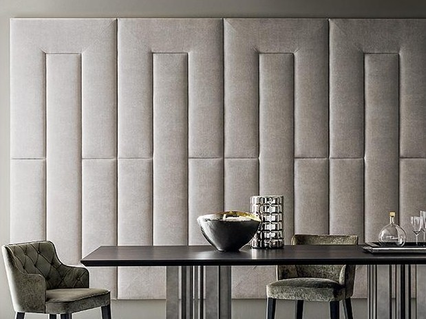 Fabric decorative acoustical panel YVES by Casamilano