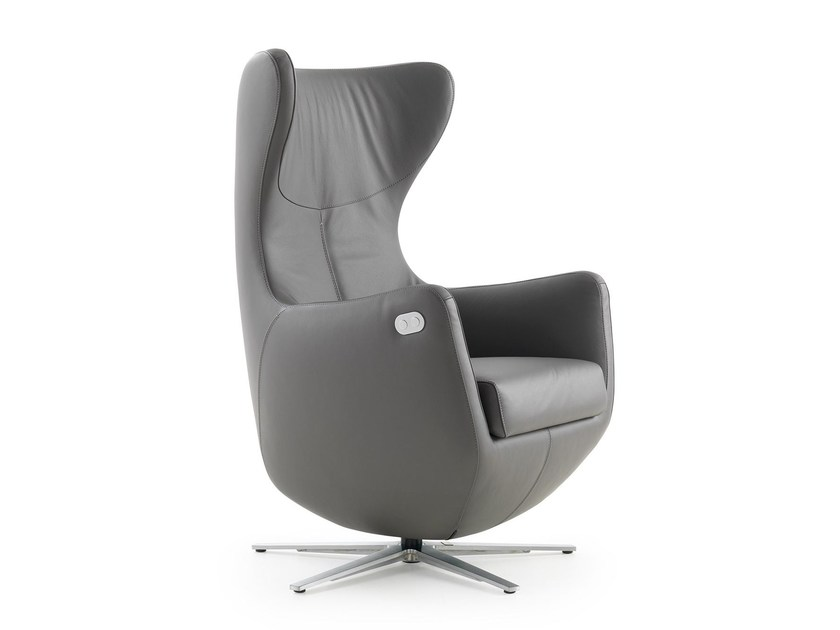 Relaxing armchair with motorised functions YSOLDE by LEOLUX