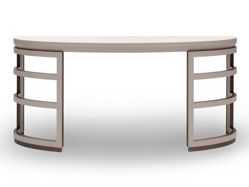 Demilune leather console table Z 1643 | Console table by Annibale Colombo