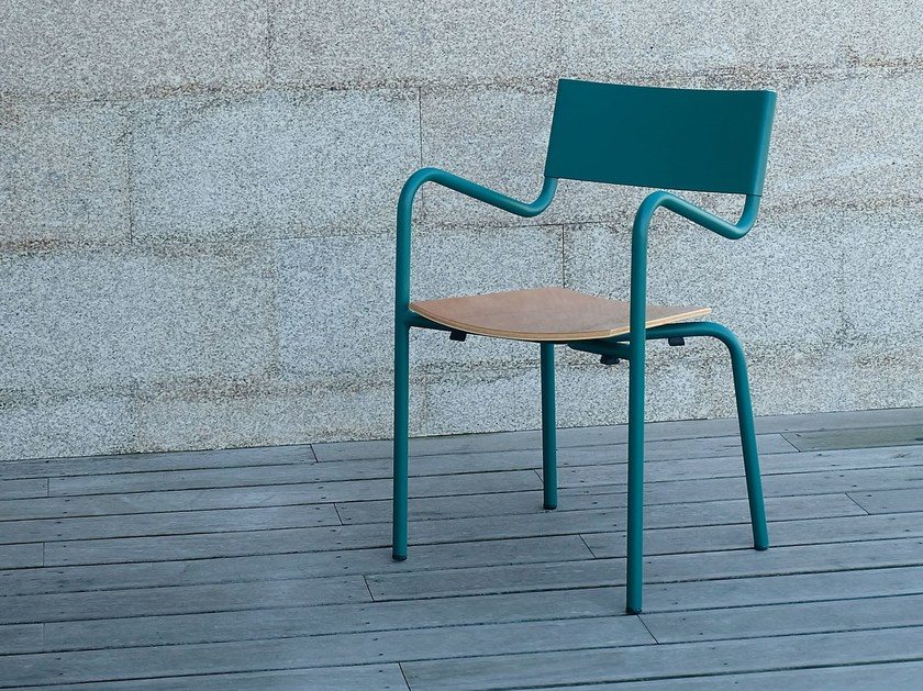 Stackable metal garden chair with armrests Z   Chair by Adico