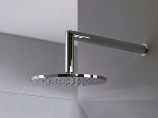 Wall-mounted overhead shower with arm Z-POINT | Overhead shower by ZAZZERI