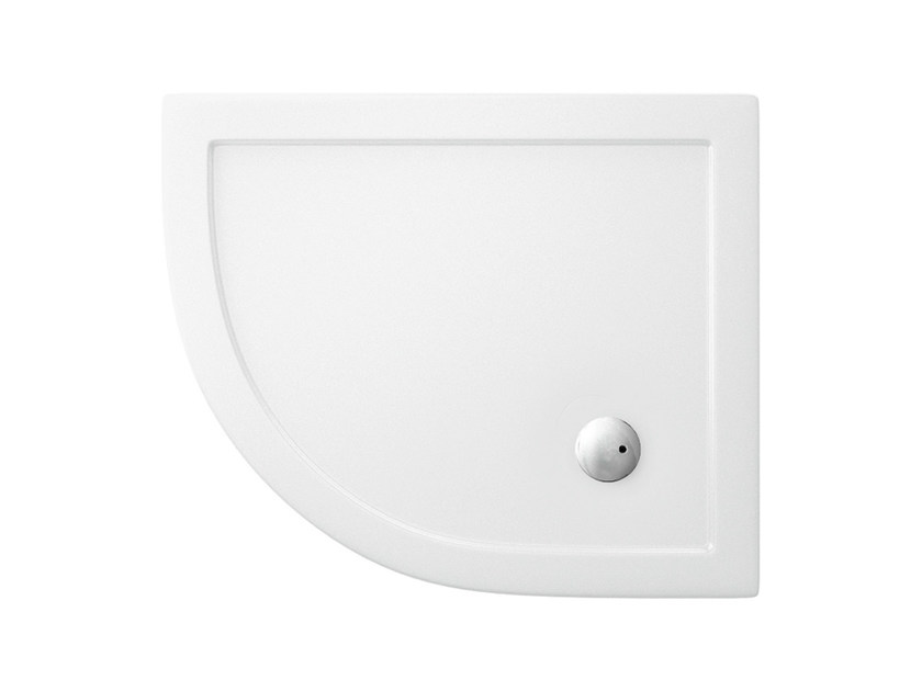 Corner acrylic shower tray T-FORMAT | Shower tray by Polo