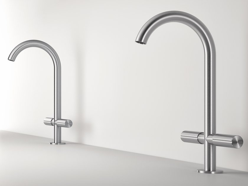 Countertop 1 hole stainless steel washbasin mixer Z316 | 1 hole washbasin mixer by ZAZZERI