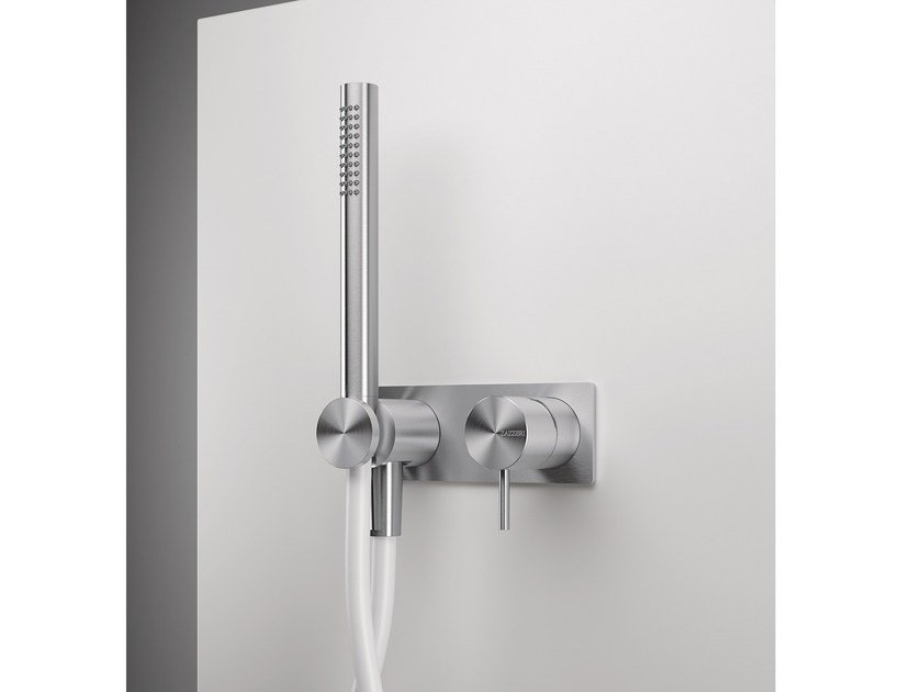 2 hole shower mixer with hand shower Z316 | 2 hole shower mixer by ZAZZERI