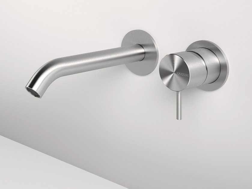 Wall-mounted stainless steel washbasin mixer Z316 | Wall-mounted washbasin mixer by ZAZZERI