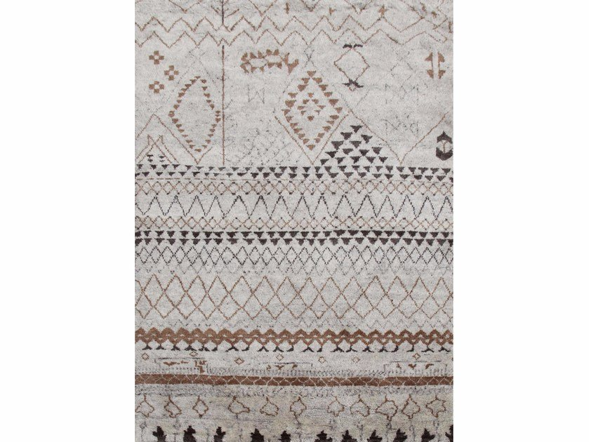 Wool rug ZAMUNDA PKWL-52 Natural White by Jaipur Rugs
