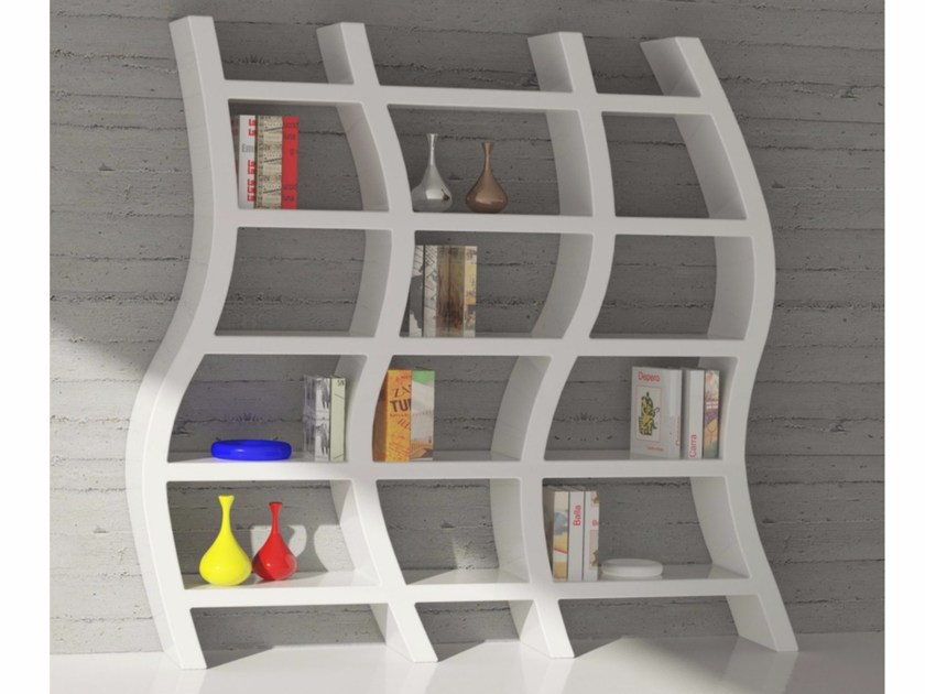 Open wall-mounted Adamantx® bookcase ZAUM 1909 by ZAD ITALY