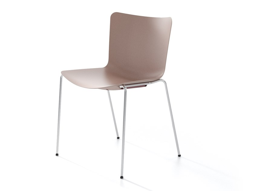 Stackable polypropylene chair ZAZA by IBEBI