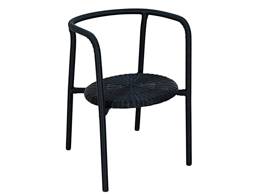Stackable garden chair with armrests ZAZIE | Chair by cbdesign