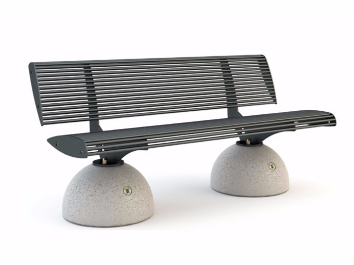 Bench with back ZEBRA | Bench by Bellitalia